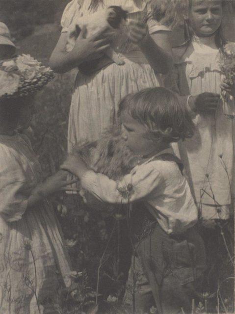 Gertrude Käsebier, Happy Days, 1902, Platindruck,