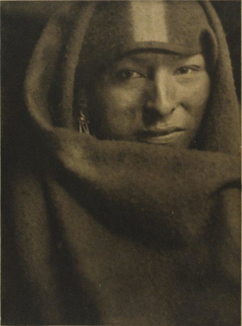 Gertrude Käsebier, The Red Man, 1903, Heliogravüre,  publiziert in Camera Work,