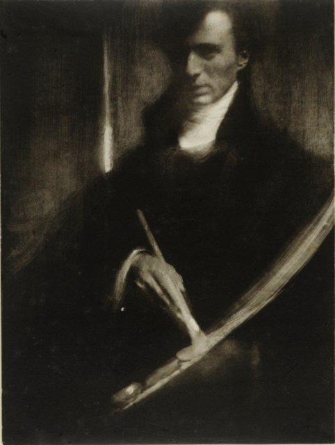 Edward Steichen, Selbstportrait, 1901, Pigmentdruck,