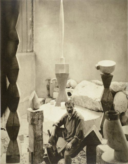 Edward Steichen, Brancusi in his studio, 1925, Heliogravüre,
