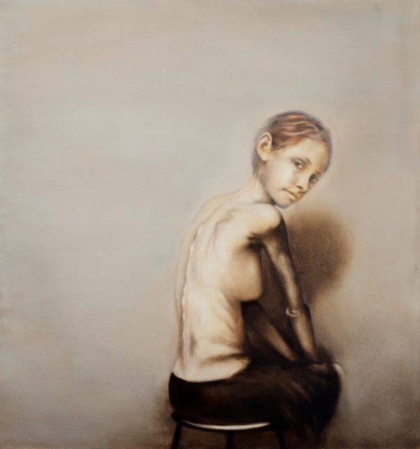 Anna Klüssendorf, Ohne Titel, Öl auf Leinwand, 2017