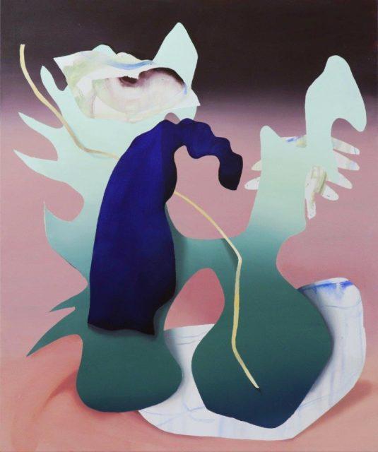Judith Grassl, Der Eingang, Acryl auf Leinwand, 2020