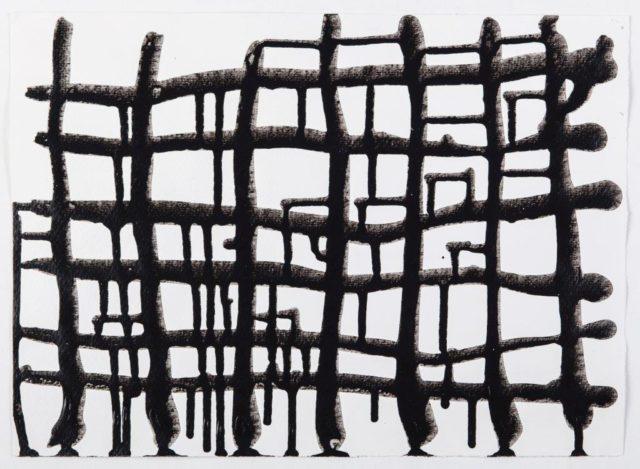 Monika Humm, Connected 7.3, Acryl auf Papier, 2016