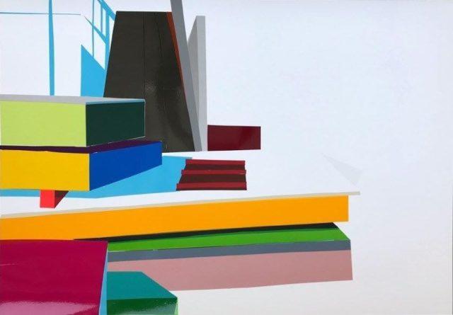 Angela Stauber, Vorstellung, Folie auf Papier, 2020