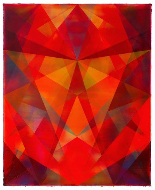 Shannon Finley, Guardian, 2018, Acryl auf Leinwand, 210 x 170 cm