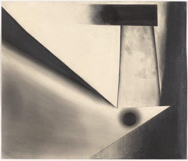 Rupprecht Geiger, Ohne Titel (Z 11), 1949, Graphit auf Papier, 51 x 60 cm,