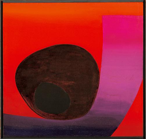 Rupprecht Geiger, Ohne Titel, 1957, Eitempera auf Leinwand, 112 x 115 cm,