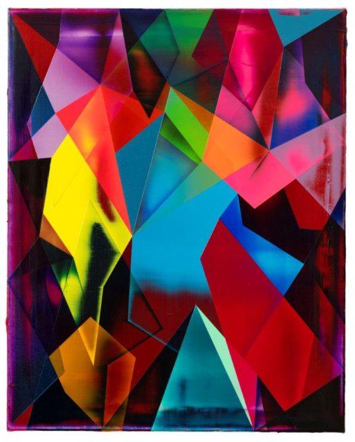 Shannon Finley, Ohne Titel, 2020, Acryl auf Leinwand, 75 x 60 cm
