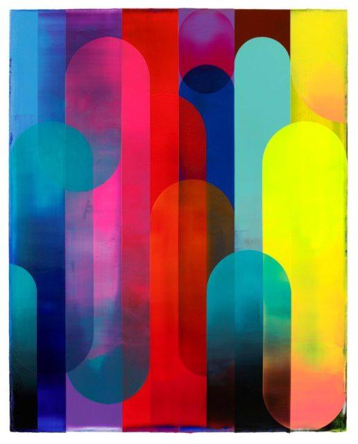 Shannon Finley, Cascade, 2020, Acryl auf Leinwand, 150 x 120 cm