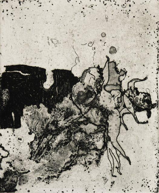 Horst Janssen, o.T. (Brandung), 1959, Kupferstich, Radierung, 22,2 x 18,4 cm,
