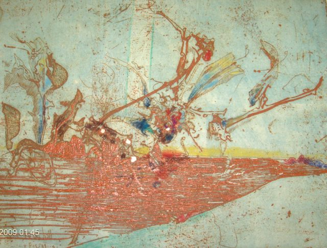 Horst Janssen, o.T. (Vogel), 1976, Kupferstich, Radierung, 18 x 23,7 cm,