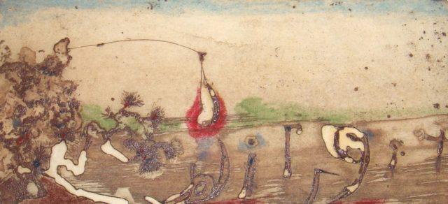 Horst Janssen, o.T. (Landschaft), 1976, Kupferstich, Radierung, 7,5 x 16,5 cm,