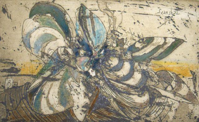 Horst Janssen, o.T. (Muscheln), 1976, Kupferstich, Radierung, 11,3 x 18,7 cm,